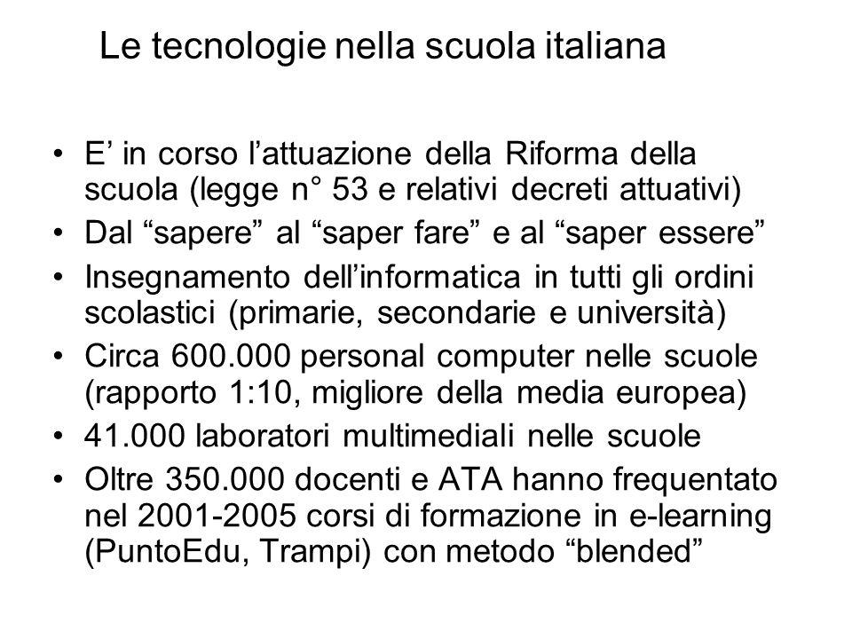 Le tecnologie nella scuola italiana