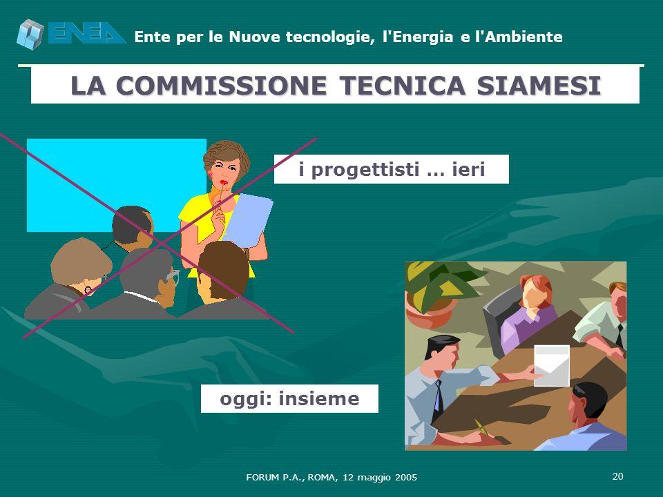 LA COMMISSIONE TECNICA SIAMESI