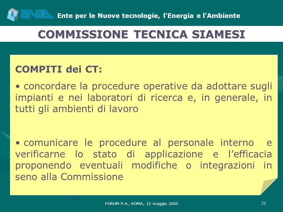 COMMISSIONE TECNICA SIAMESI