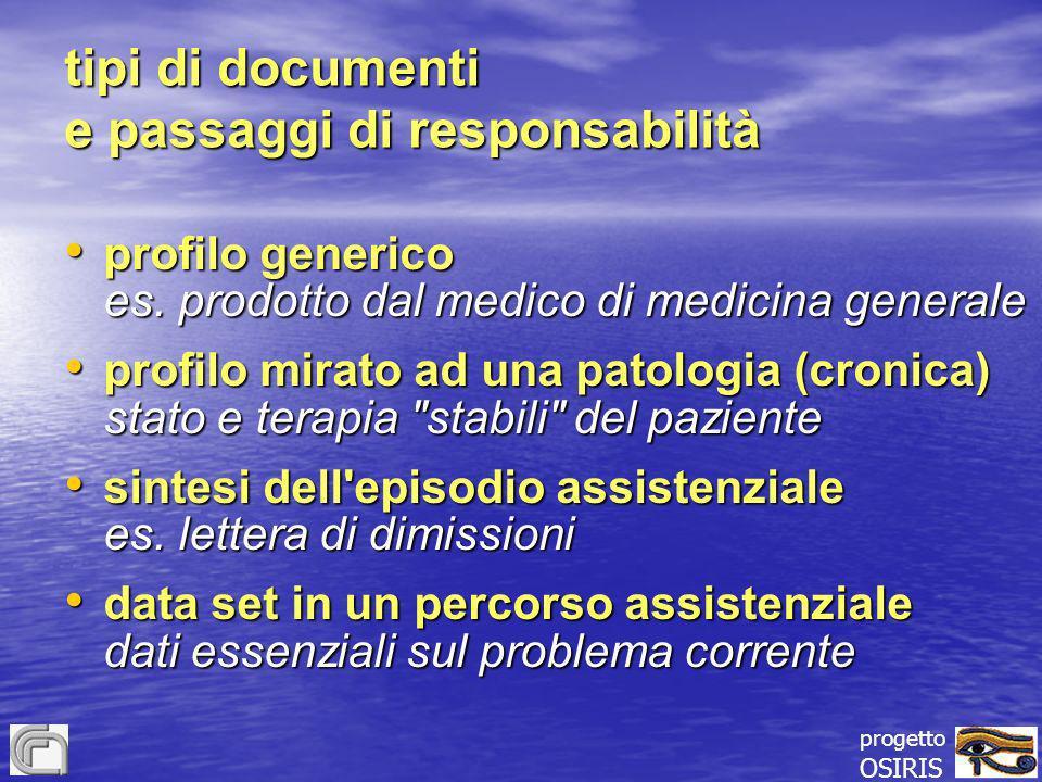 tipi di documenti e passaggi di responsabilità