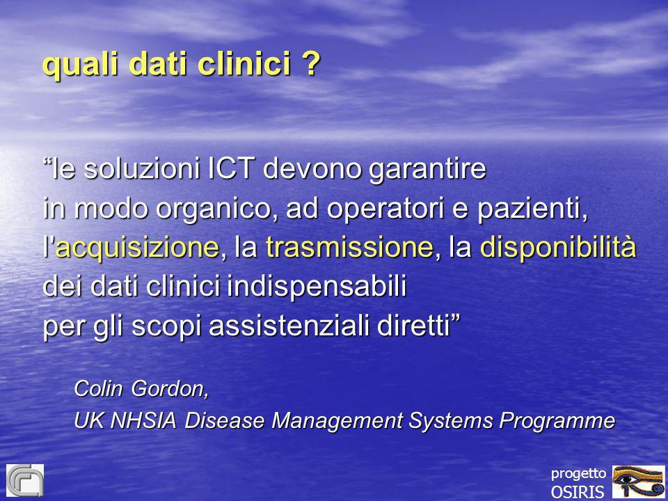 quali dati clinici le soluzioni ICT devono garantire