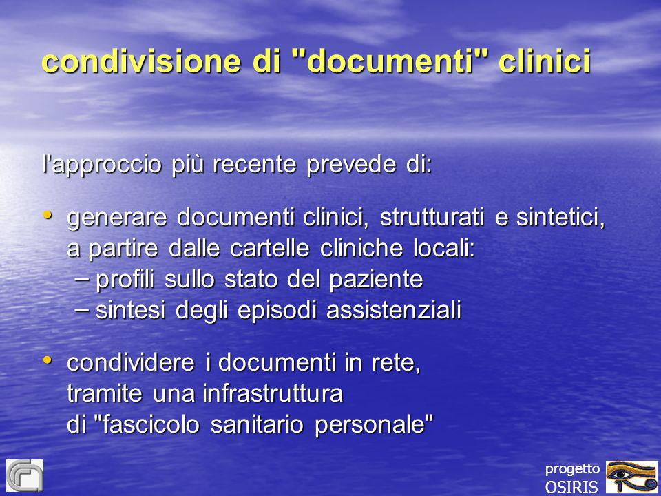 condivisione di documenti clinici