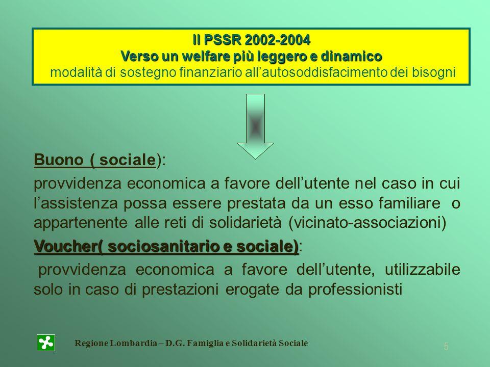 Voucher( sociosanitario e sociale):