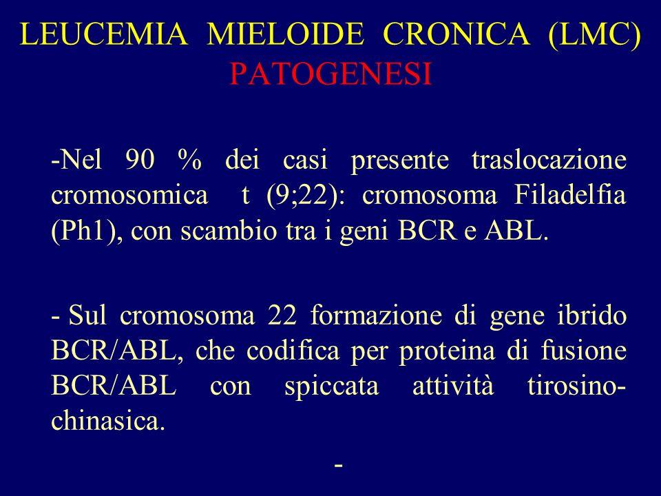 LEUCEMIA MIELOIDE CRONICA (LMC) PATOGENESI