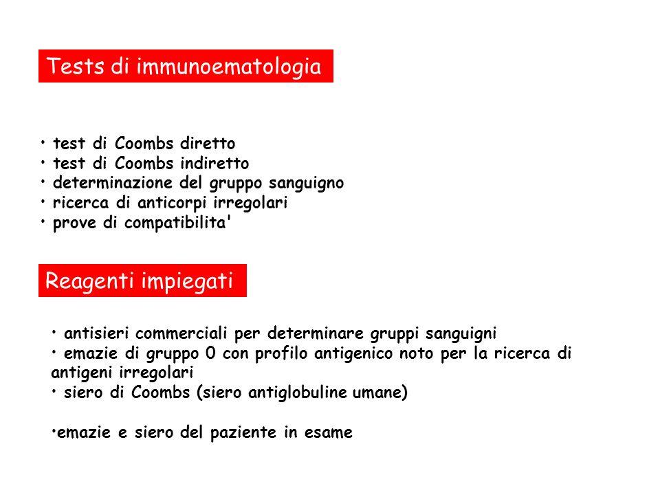 Tests di immunoematologia