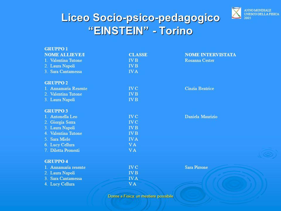 Liceo Socio-psico-pedagogico EINSTEIN - Torino