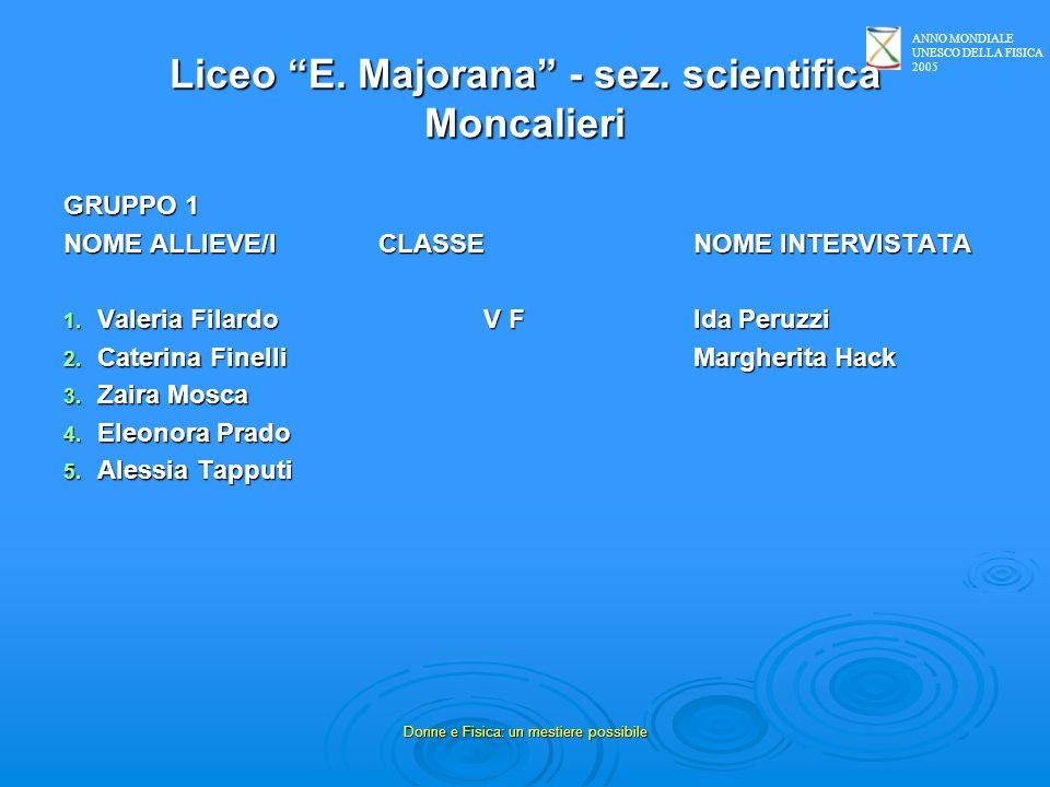 Liceo E. Majorana - sez. scientifica Moncalieri