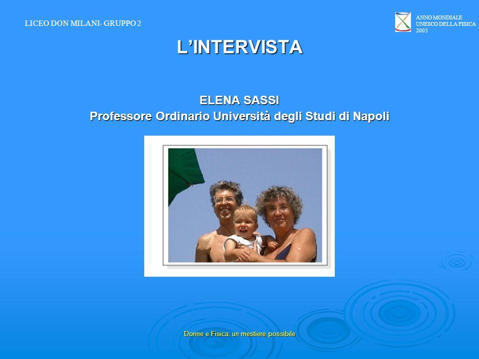 Professore Ordinario Università degli Studi di Napoli