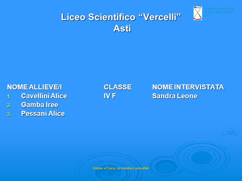 Liceo Scientifico Vercelli Asti