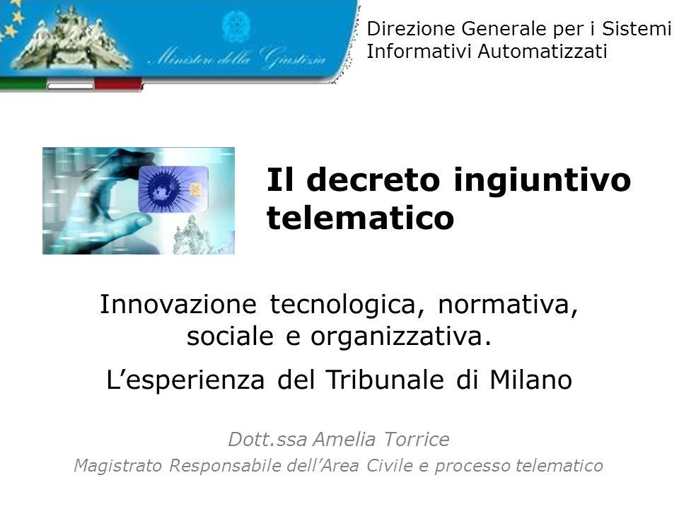 Il decreto ingiuntivo telematico