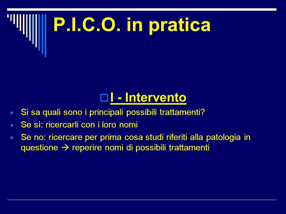 P.I.C.O. in pratica I - Intervento