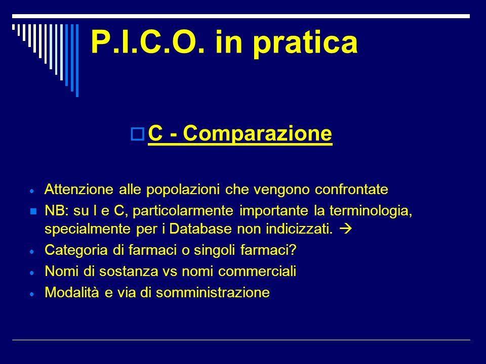 P.I.C.O. in pratica C - Comparazione