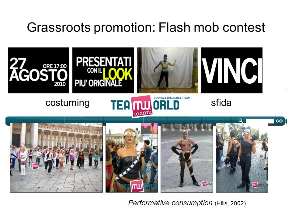Grassroots promotion: Flash mob contest