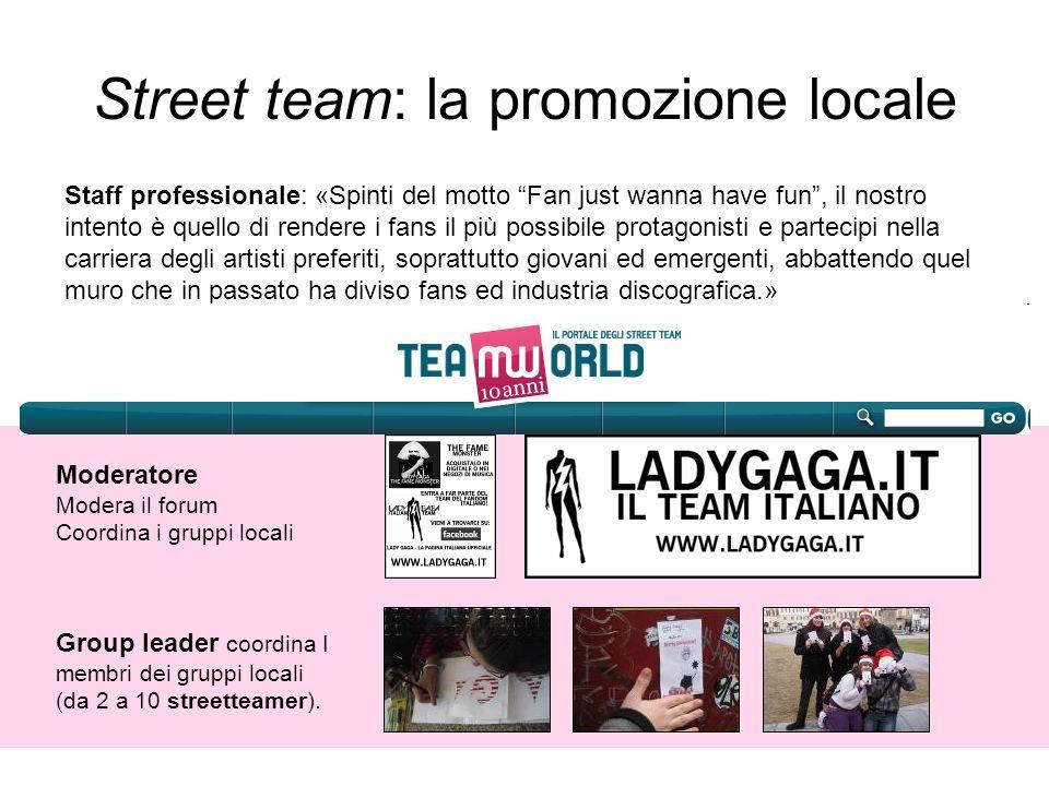 Street team: la promozione locale