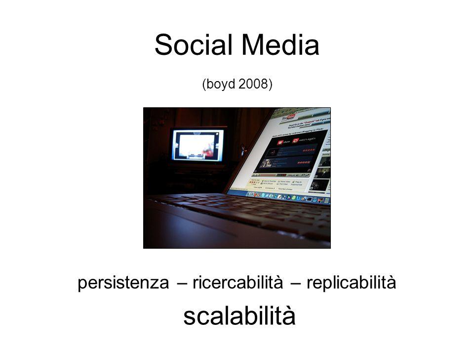 persistenza – ricercabilità – replicabilità