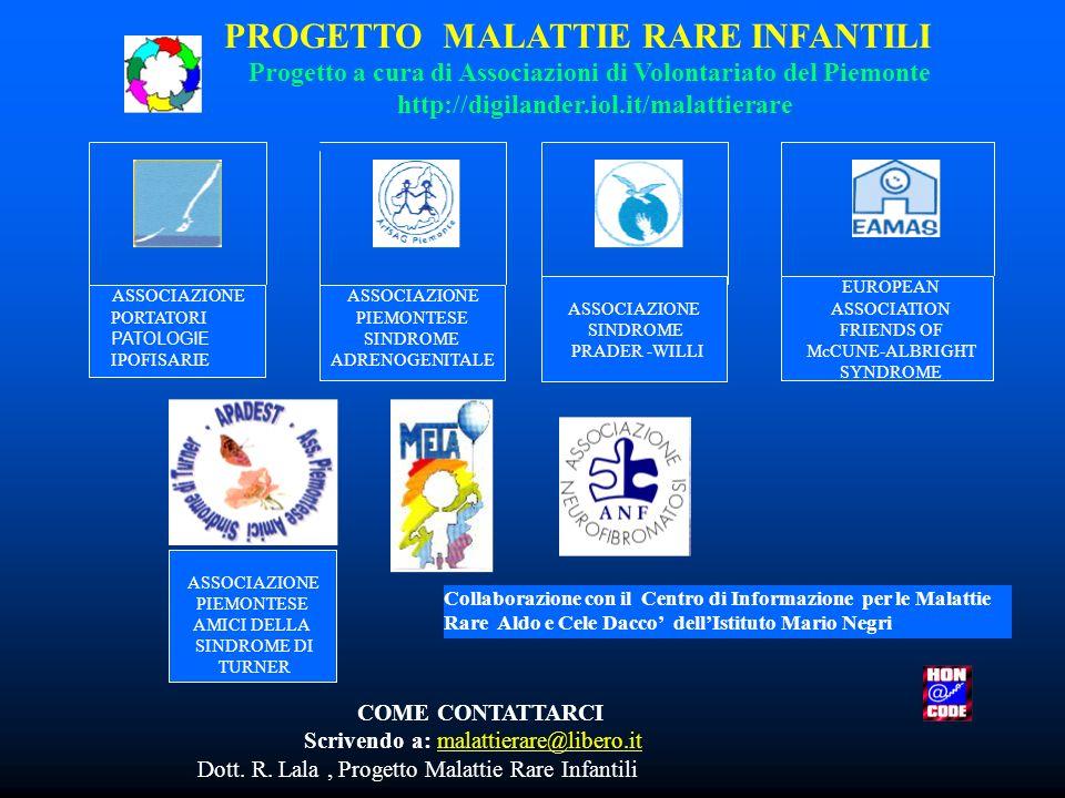 PROGETTO MALATTIE RARE INFANTILI