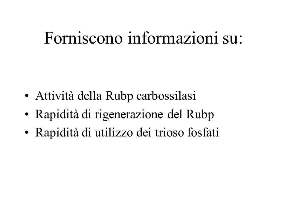 Forniscono informazioni su: