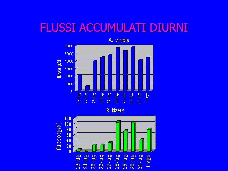 FLUSSI ACCUMULATI DIURNI