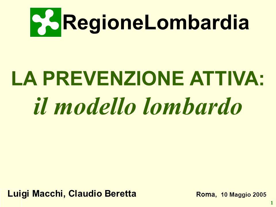 LA PREVENZIONE ATTIVA: il modello lombardo