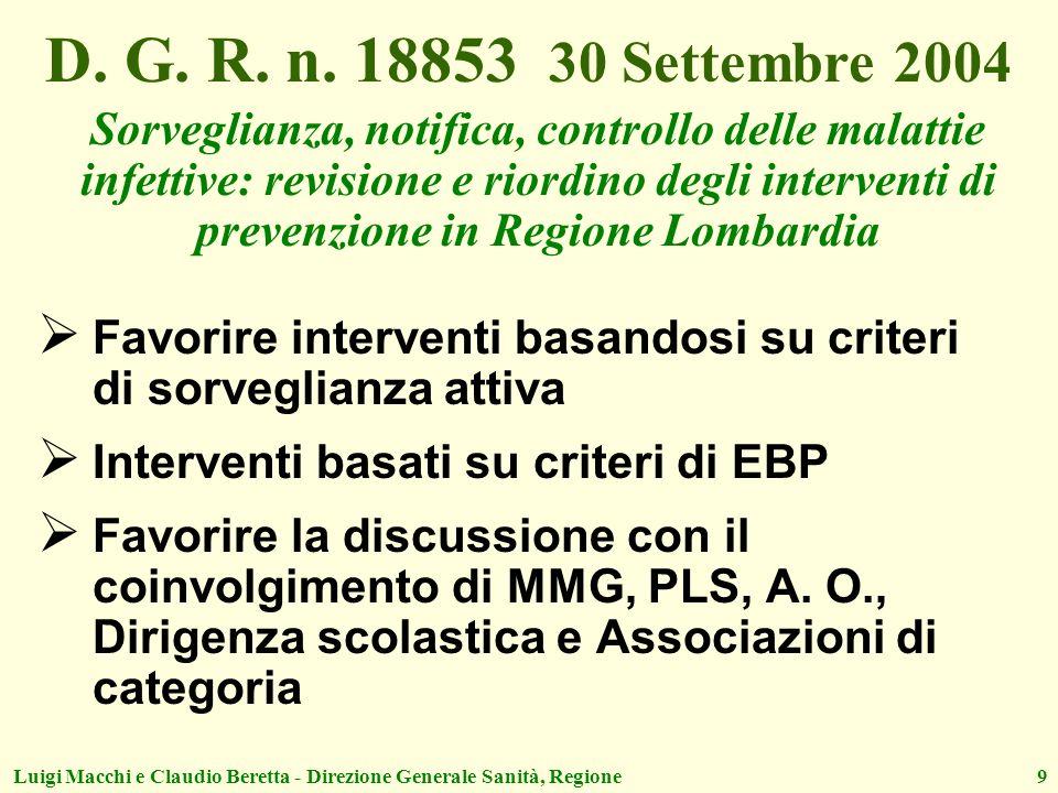 D. G. R. n. 18853 30 Settembre 2004