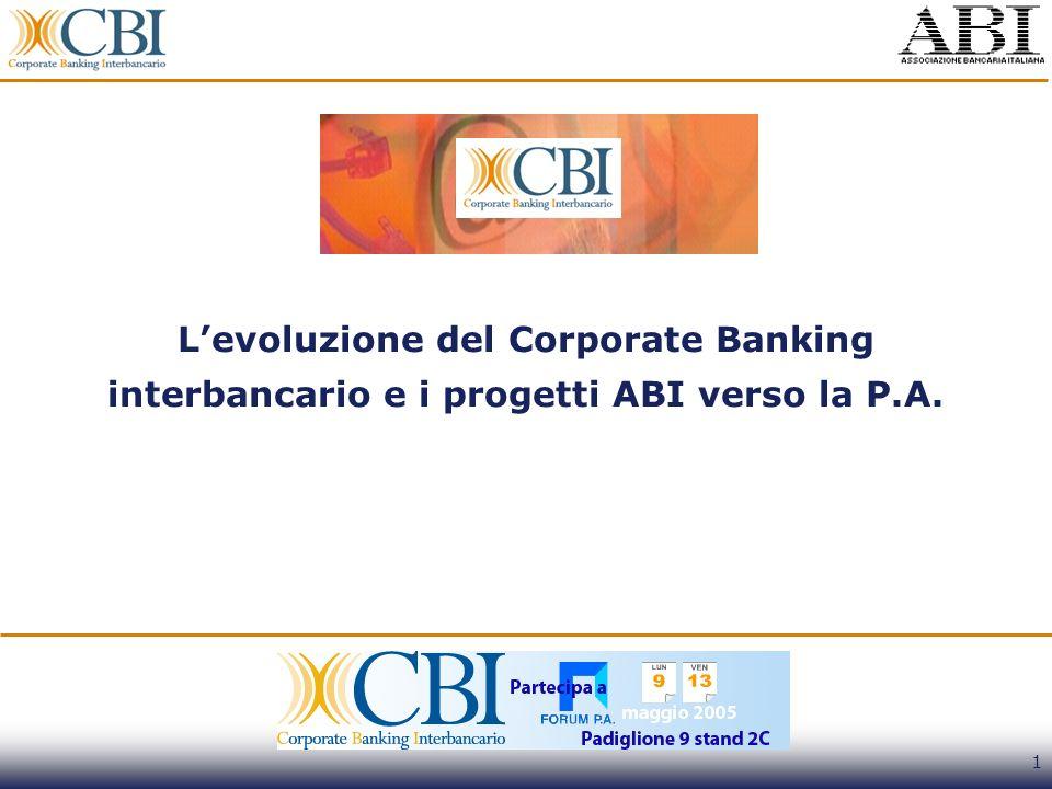 L'evoluzione del Corporate Banking interbancario e i progetti ABI verso la P.A.