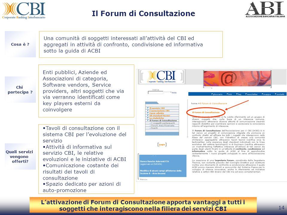 Il Forum di Consultazione