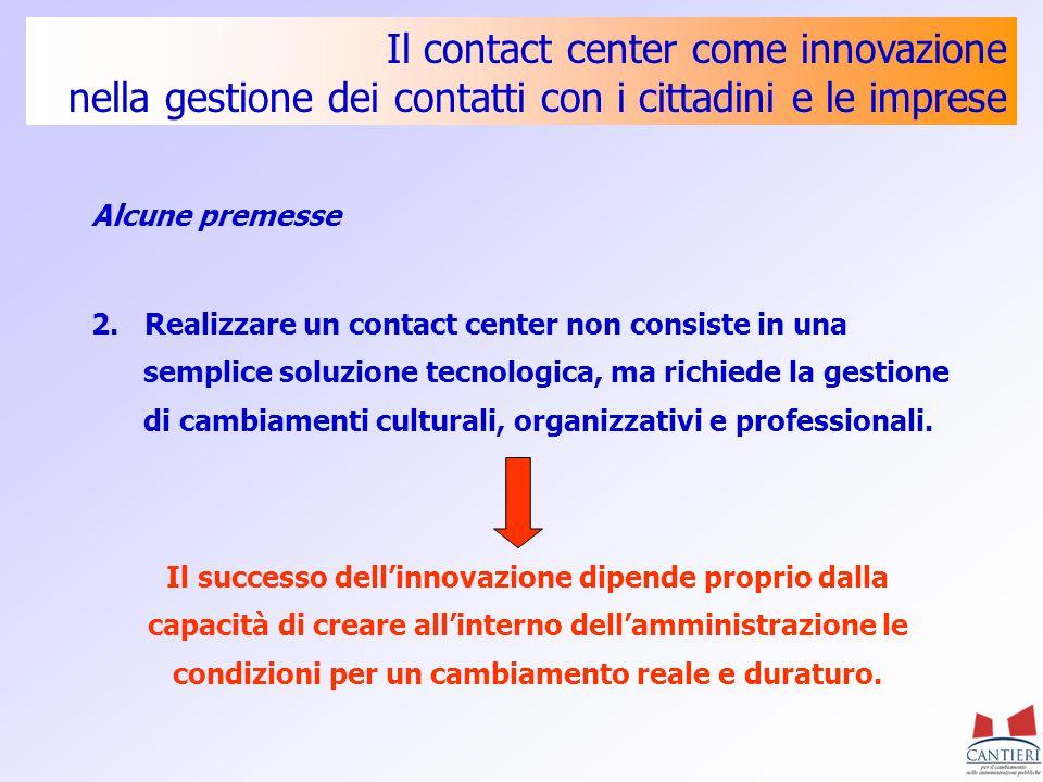 Il contact center come innovazione