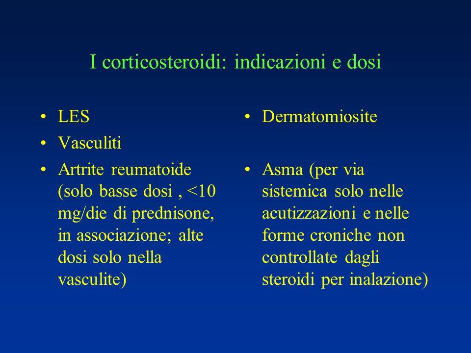 I corticosteroidi: indicazioni e dosi