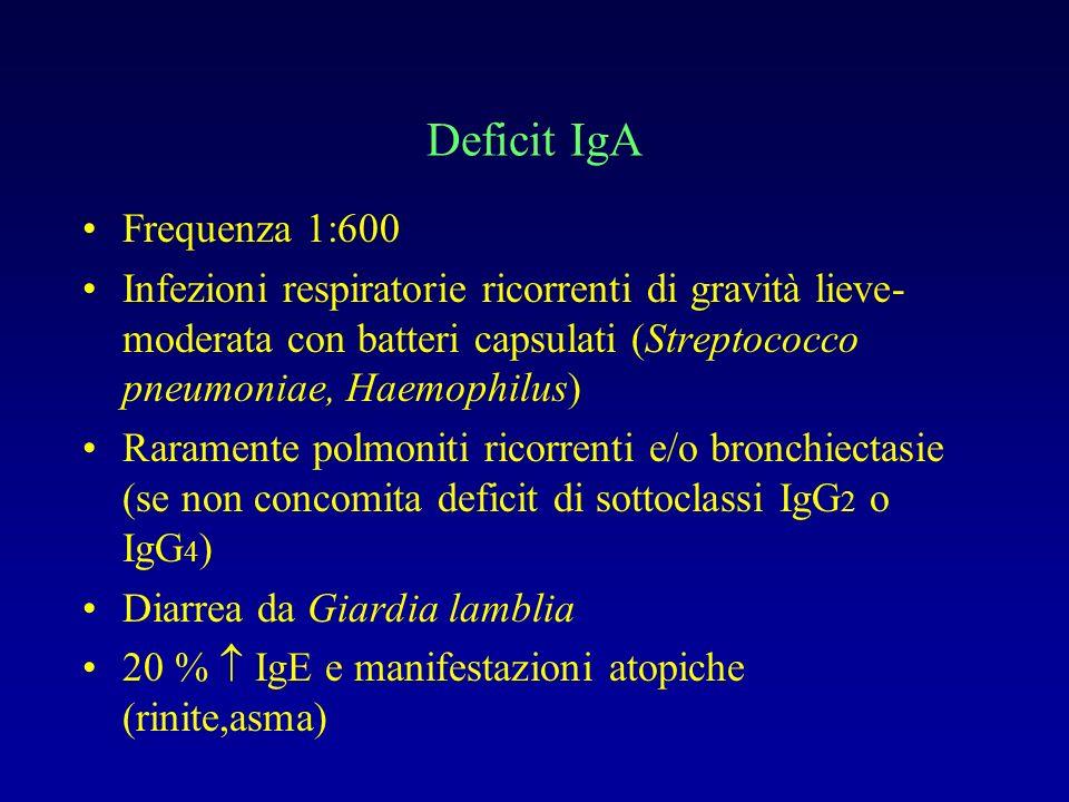 Deficit IgA Frequenza 1:600