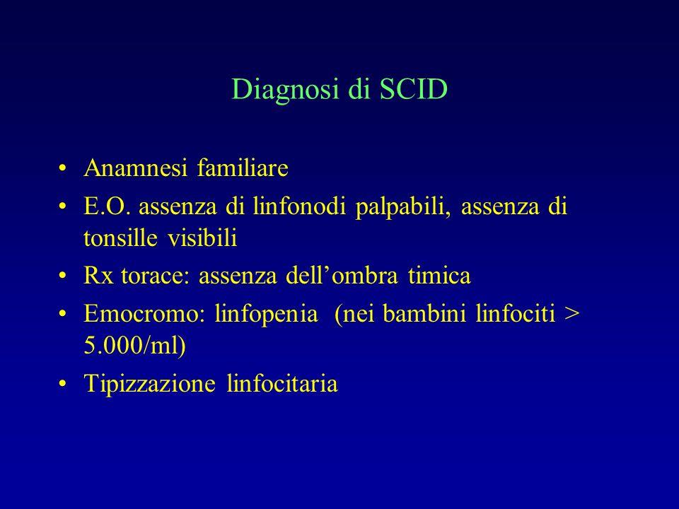 Diagnosi di SCID Anamnesi familiare