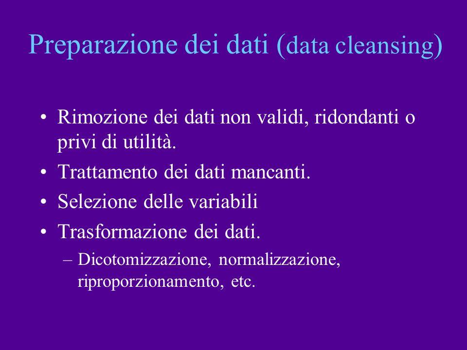Preparazione dei dati (data cleansing)