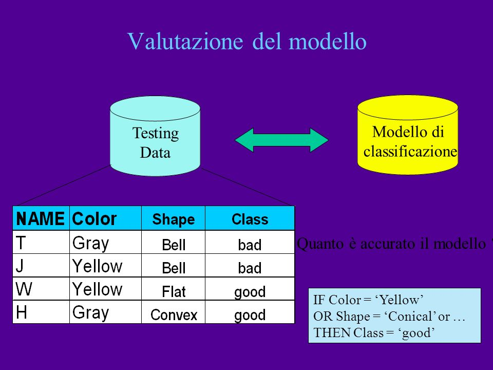 Valutazione del modello