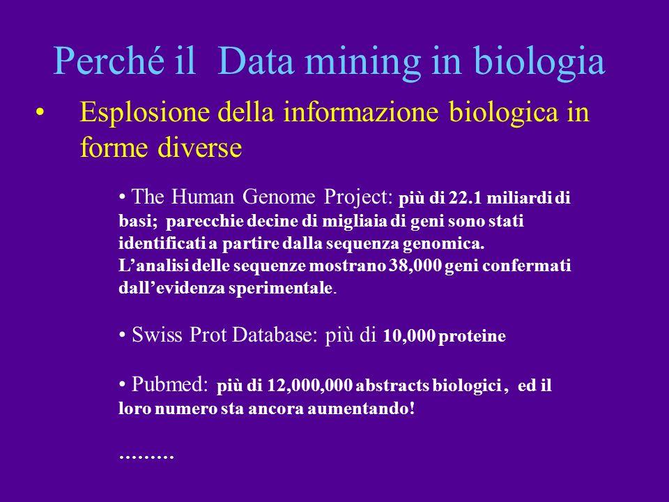 Perché il Data mining in biologia