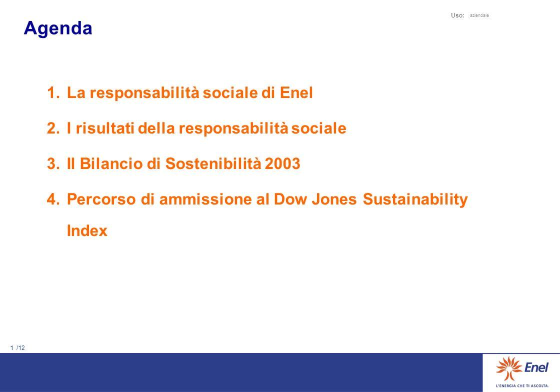 Agenda La responsabilità sociale di Enel