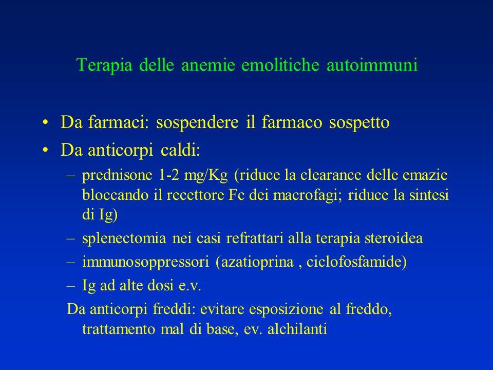 Terapia delle anemie emolitiche autoimmuni