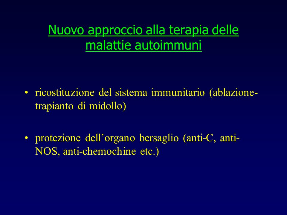 Nuovo approccio alla terapia delle malattie autoimmuni