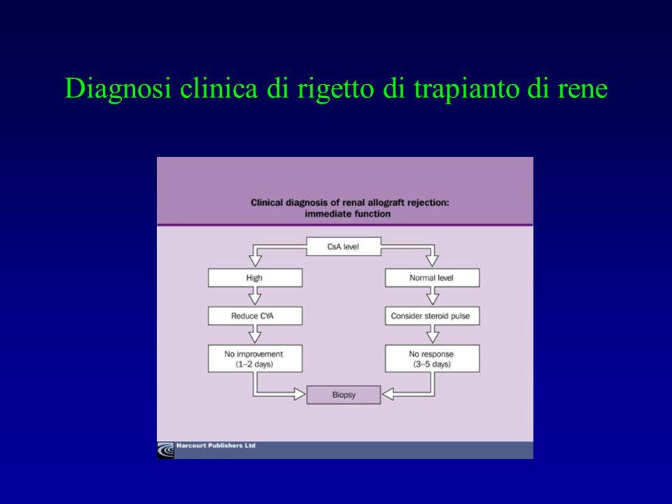 Diagnosi clinica di rigetto di trapianto di rene