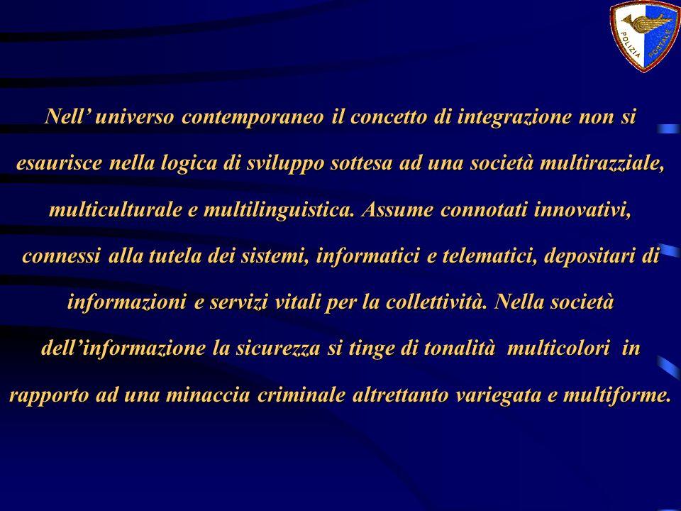 Nell' universo contemporaneo il concetto di integrazione non si esaurisce nella logica di sviluppo sottesa ad una società multirazziale, multiculturale e multilinguistica.