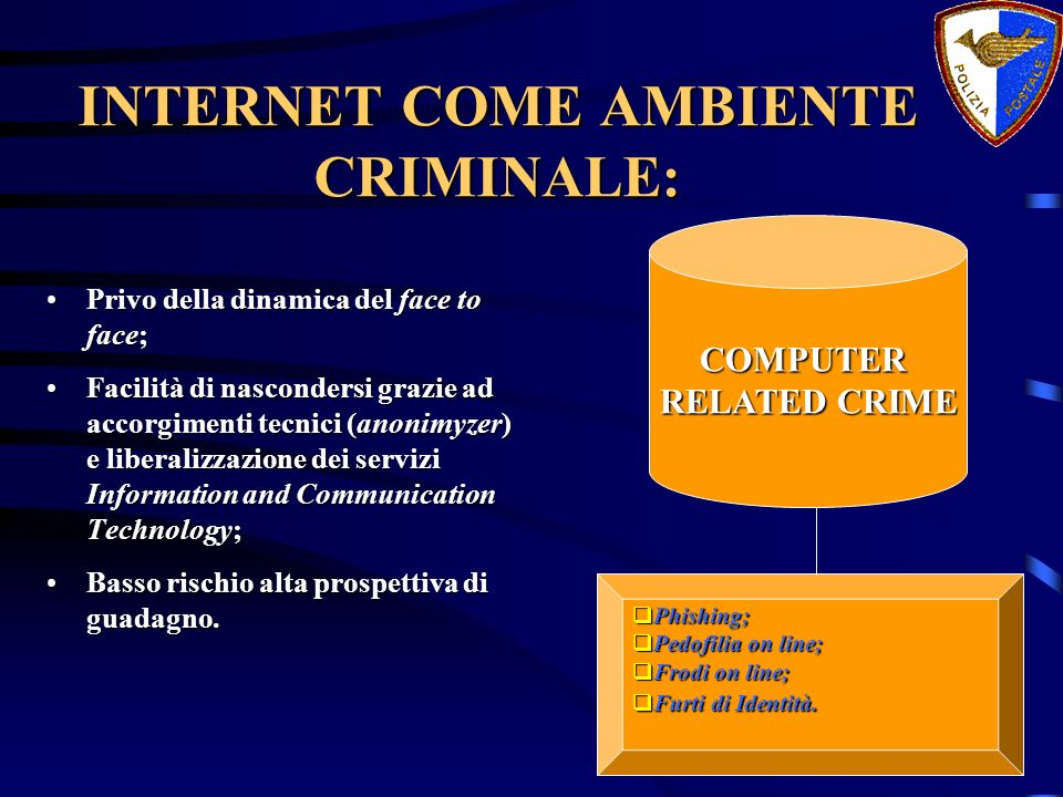 INTERNET COME AMBIENTE CRIMINALE: