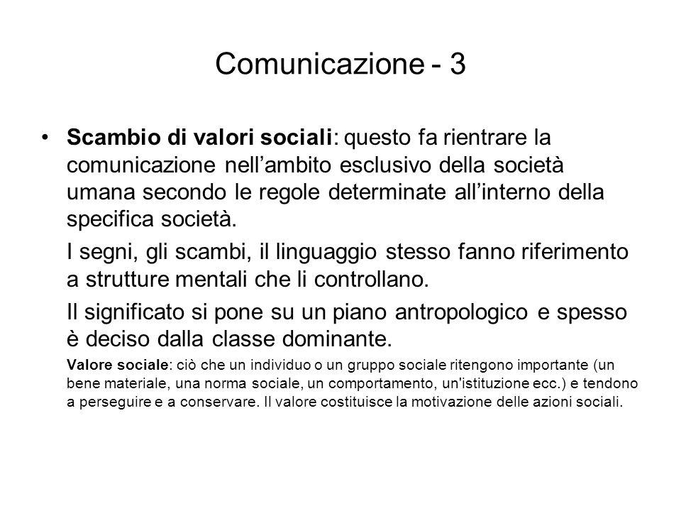 Comunicazione - 3
