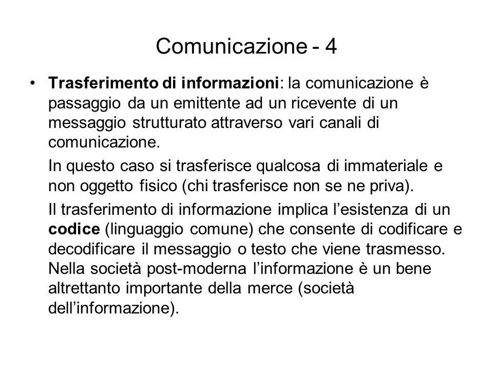 Comunicazione - 4
