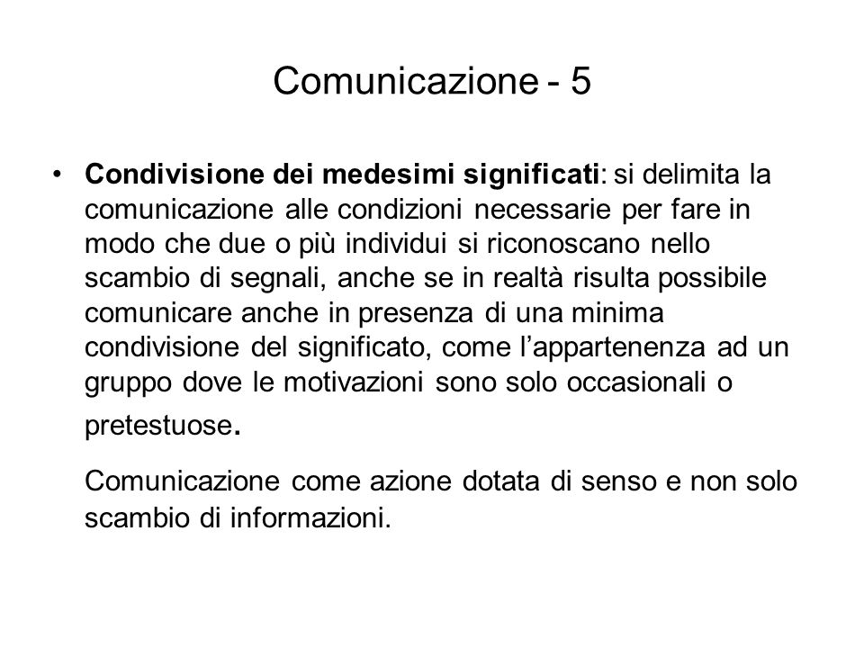 Comunicazione - 5