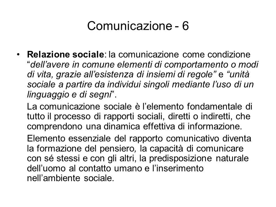 Comunicazione - 6