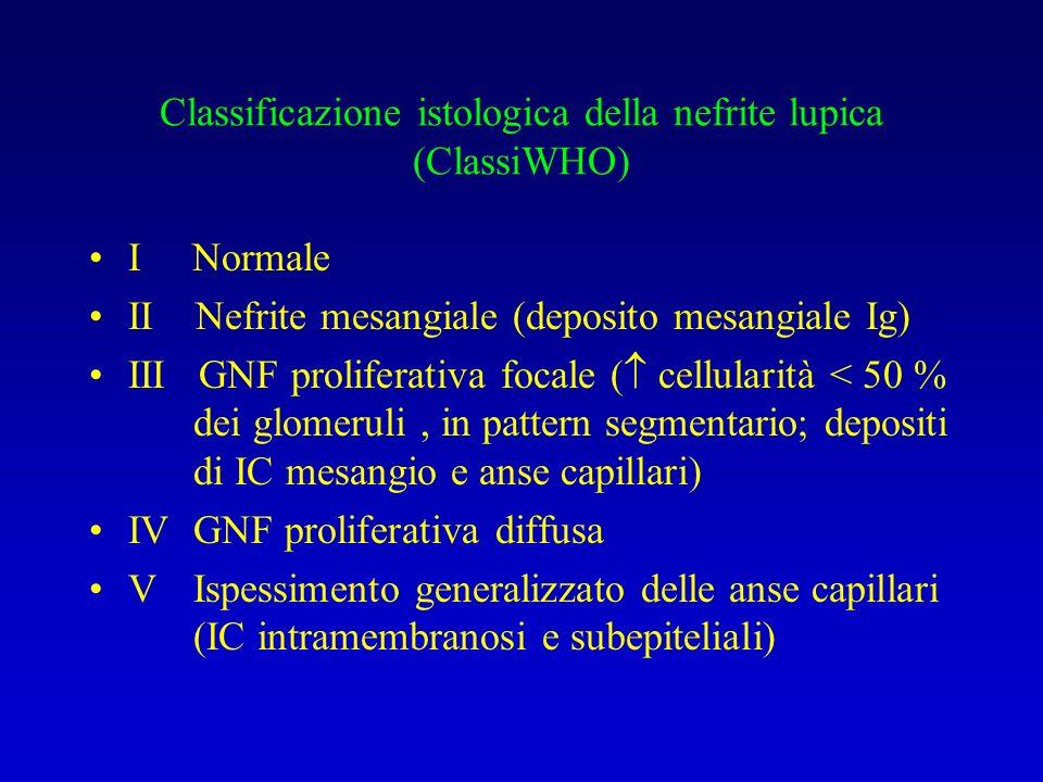 Classificazione istologica della nefrite lupica (ClassiWHO)