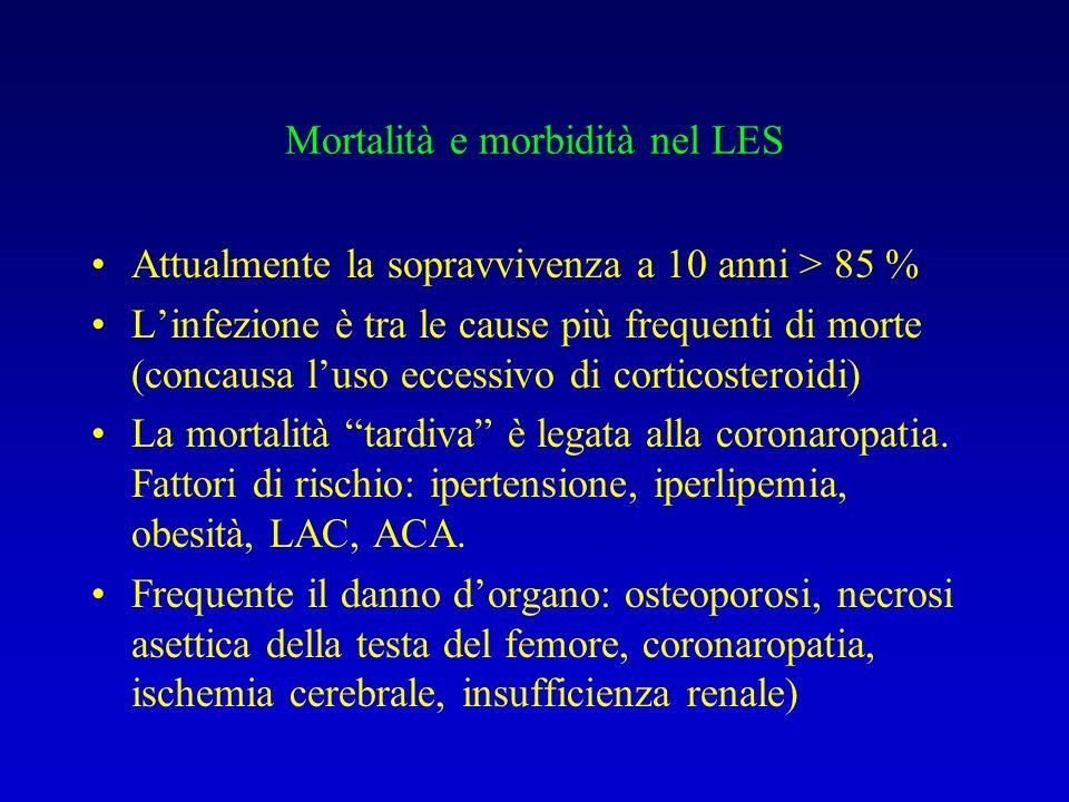 Mortalità e morbidità nel LES