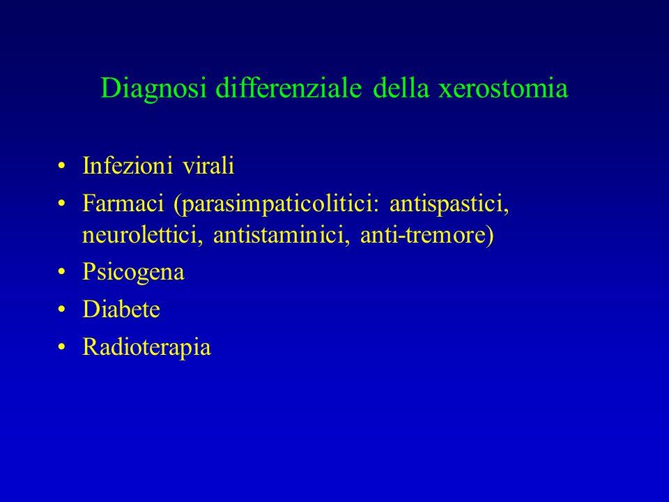 Diagnosi differenziale della xerostomia