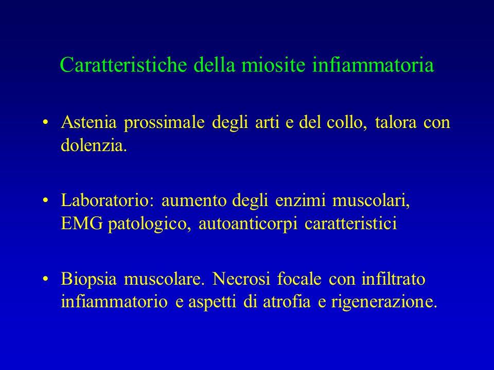 Caratteristiche della miosite infiammatoria