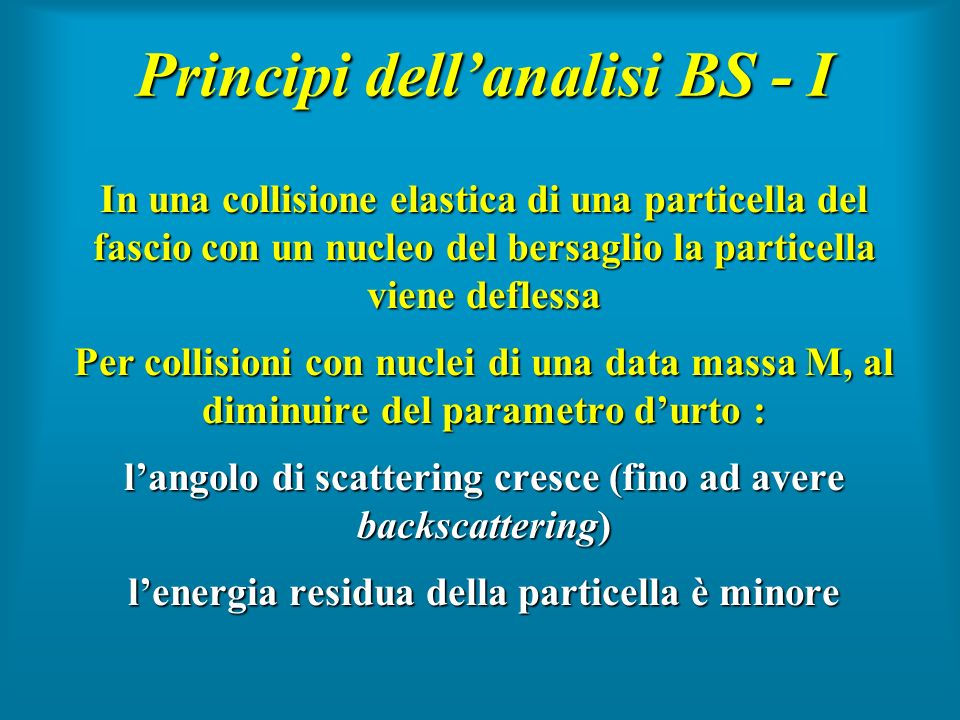 Principi dell'analisi BS - I