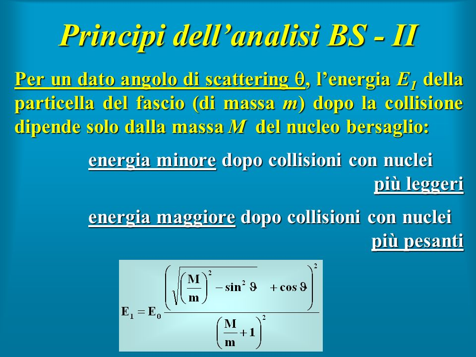 Principi dell'analisi BS - II
