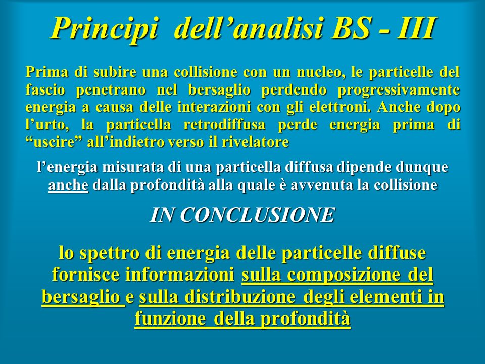 Principi dell'analisi BS - III